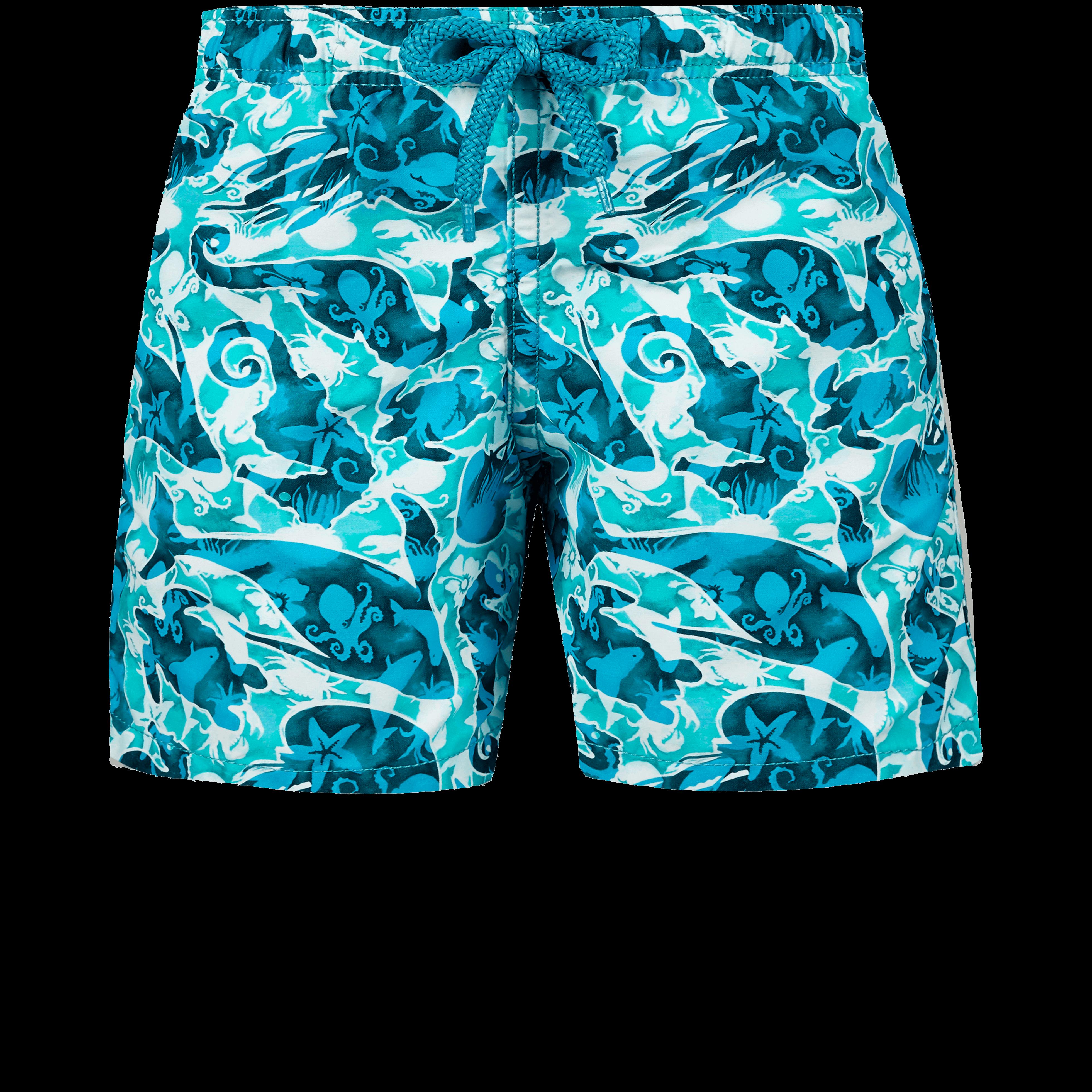 VILEBREQUIN | Boys Swimwear - Boys Swimwear Double Focus - Web Exclusive - SWIMMING TRUNK - JIM - Green - 14 - Vilebrequin | Goxip