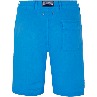 Men Others Solid - Men straight Linen Bermuda Shorts Solid, Atoll back