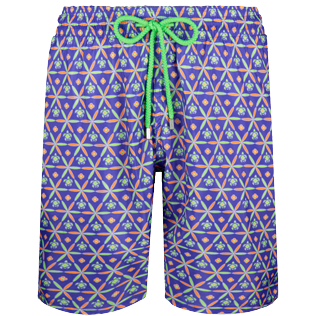 Men Long classic Printed - Men Swim Trunks Long Ultra-light and packable Indian Ceramic, Madras front