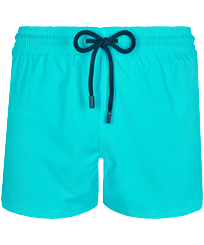 Men Short classic Solid - Men Swim Trunks Short and Fitted Stretch Solid, Azure front