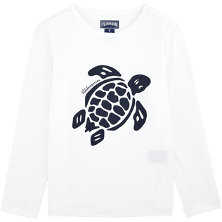 049 Solid - Turtles Anti-UV long sleeves T-Shirt, White front