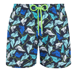 Men Classic Printed - Men Swimtrunks Baha Mar designed by John Cox - Limited Edition, Navy front