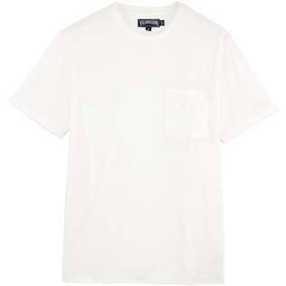 Men Tee-Shirts Solid - Pima Cotton Solid Round neck T-Shirt, White front