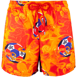 Men Classic Printed - Men Swimtrunks Octo Soccer, Poppy red front