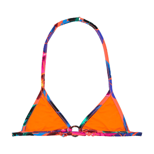 Girls Others Printed - Girls triangle bikini Top Porto Rico, Bright orange back
