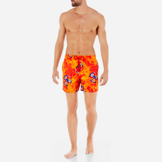 Men Classic Printed - Men Swimtrunks Octo Soccer, Poppy red frontworn