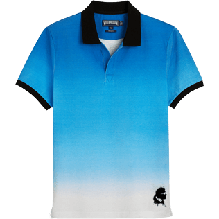 Men Polos Printed - Karl Lagerfeld Cotton pique polo, Ocean front
