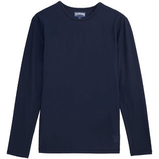Men 049 Solid - Solid Anti-UV long sleeves T-Shirt, Navy front