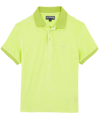 Men Others Solid - Men Terry cloth Polo Shirt Solid, Coriander front