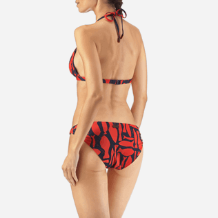 Women Tops Printed - Silex Fishes Triangle shape bikini top, Poppy red supp2