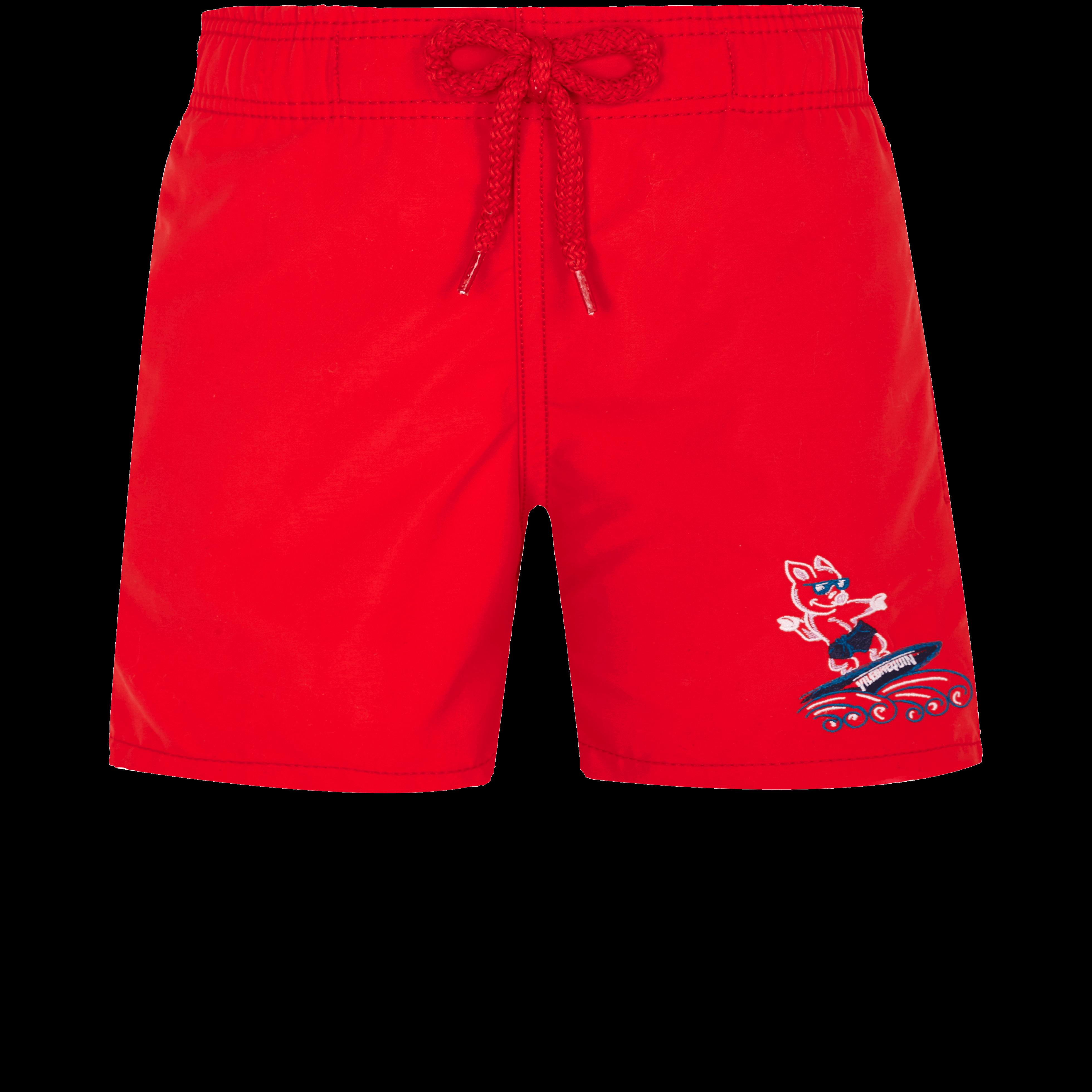 VILEBREQUIN | Boys Swimwear - Boys Swimwear The Year Of The Pig - SWIMMING TRUNK - JIM - Red - 12 - Vilebrequin | Goxip