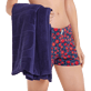 Others Solid - Beach Towel Jacquard Solid, Midnight blue backworn
