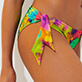 Women Classic brief Printed - Women Bikini Bottom Brief to be tied Holi Party, Batik blue supp1