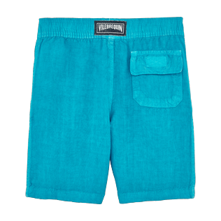 Boys Others Solid - Boys Linen Bermuda Shorts Solid, Curacao back