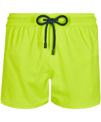 Men Short classic Solid - Men Swim Trunks Short and Fitted Stretch Solid, Lemongrass front