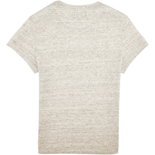 Men Tee-Shirts Solid - Men Linen Jersey T-shirt Solid, Heather grey back