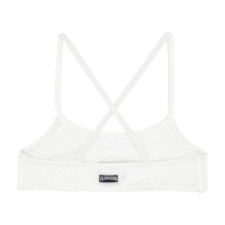 Girls Tops Embroidered - Girls Bikini Top Eyelet Embroidery, White back