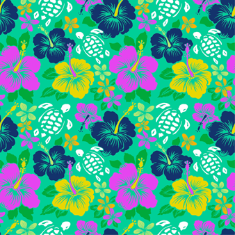 Tropical Turtles Bademode mit Stickarbeiten für Herren – Limited Edition, Cardamom pattern