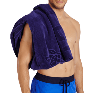 Others Solid - Beach Towel Jacquard Solid, Midnight blue supp2