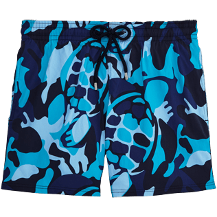 Men Stretch classic Printed - Camouflage Turtles Superflex Swim shorts, Azure front