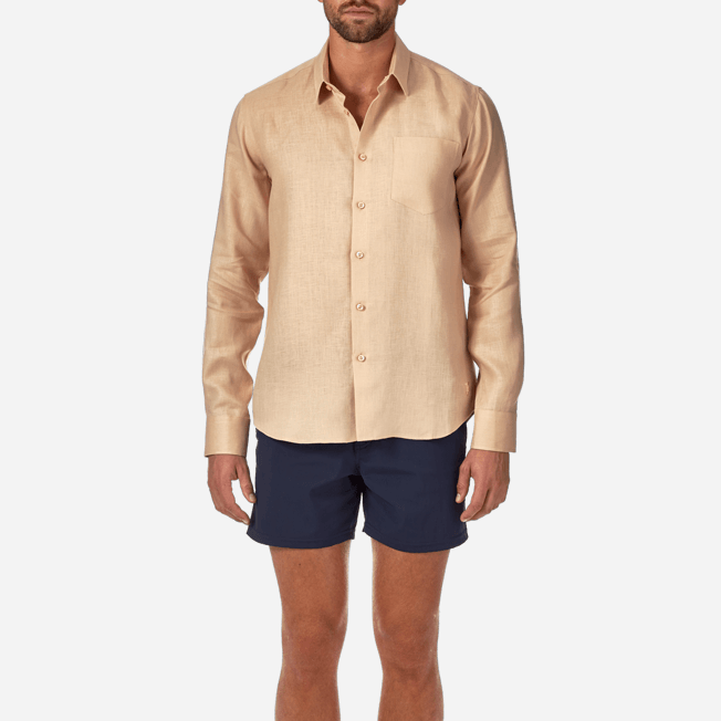 Vilebrequin - Men Linen Shirt Solid - 5