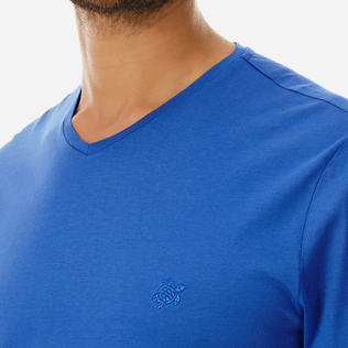 0a21811679b2 Men Mercerized Cotton T-Shirt V-neck Solid | Vilebrequin Website ...