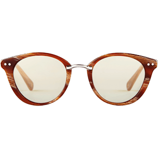 Sunglasses Solid - Unisex Sunglasses Bronze Mirror, Hazelnut front