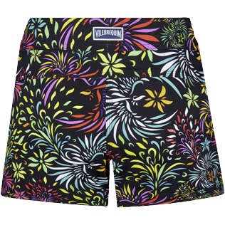 Damen Andere Bedruckt - Evening Birds Stretch-Badeshorts für Damen, Schwarz back