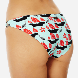 Women Classic brief Printed - Women brief to be tied bikini Bottom Hong Kong, Mint supp1