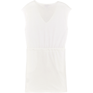 Women Others Solid - Women Short terry cloth Dress Solid, White back