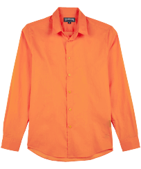 Others Solid - Unisex Cotton Voile Light Shirt Solid, Apricot front