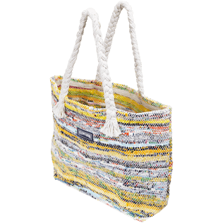 Others Printed - Large Beach Bag Eco-friendly, Yellow backworn
