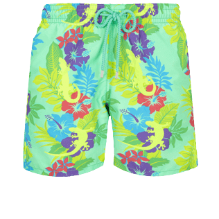 Men Classic Printed - Men Swimwear Les Geckos, Cardamom front