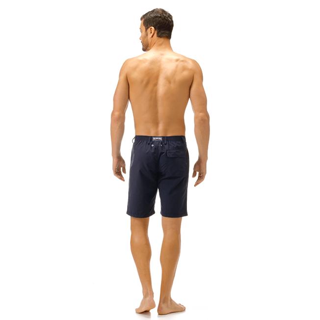 Vilebrequin - Bermudas rectas en tejido de bañador con estampado liso para hombre - 4