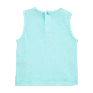 Girls Tee-Shirts Solid - Girls Tank Top in Terry Cloth Solid, Lagoon back