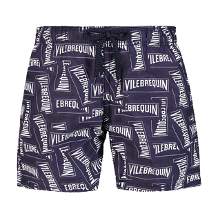 Boys Others Printed - Boys Swimwear Vilebrequin Labels, Navy front