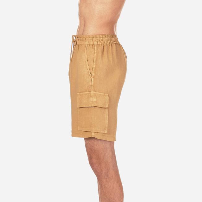 Vilebrequin - Bermudas lisas de lino con bolsillos de fuelle - 7