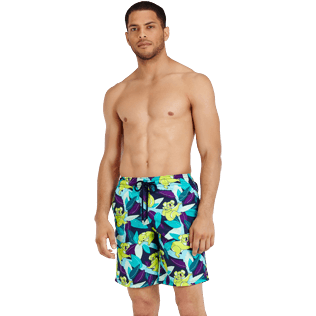 Men Long classic Printed - Men Swimtrunks Long Koalas, Navy frontworn