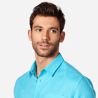 Men Others Solid - Men Linen Shirt Solid, Horizon supp1