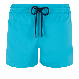 Men Short classic Solid - Men Swimwear Short and Fitted Stretch Solid, Curacao front