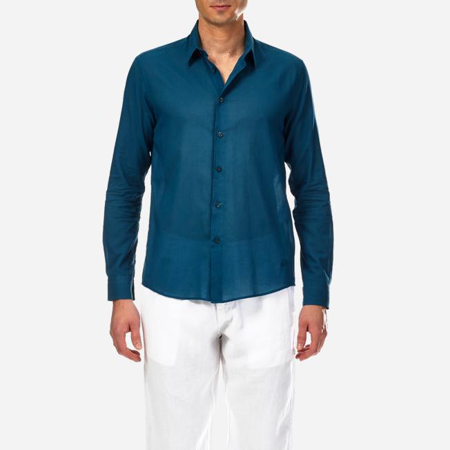 Vilebrequin - Camisa en gasa de algodón con estampado liso unisex - 5
