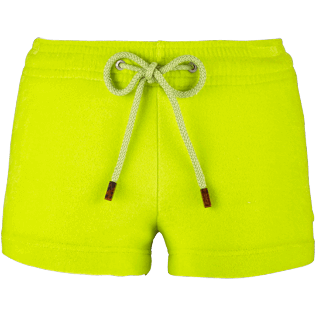 Women Shorties Solid - Women Terry Cloth Shortie Solid, Chartreuse front