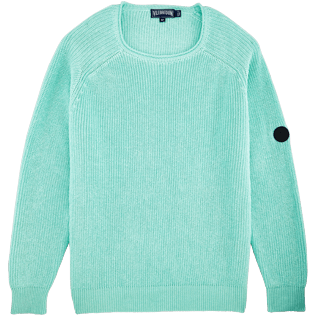 Men Others Solid - Men Cotton Linen Pullover Solid, Lagoon front