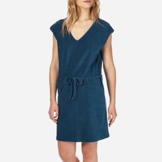 Women Dresses Solid - Women Short Terry Cloth Dress Solid, Spray supp1