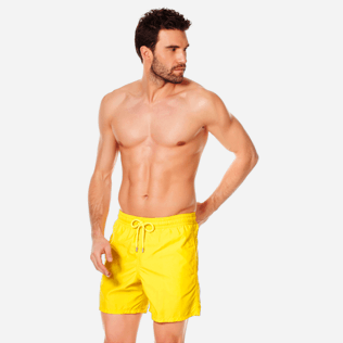 Men Classic Solid - Men swimtrunks Solid, Citron frontworn