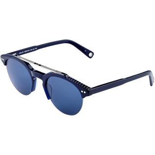 Sunglasses Solid - Unisex Sunglasses Blue Mono, Navy back