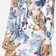 Women Others Printed - Women Silk Dress Watercolor Turtles, White supp1