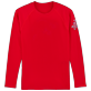 Others Printed - Unisex Long Sleeves Rashguards Solid, Red polish front