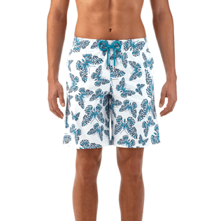 Men Long Printed - Butterflies Superflex long cut Swim shorts, Azure supp2