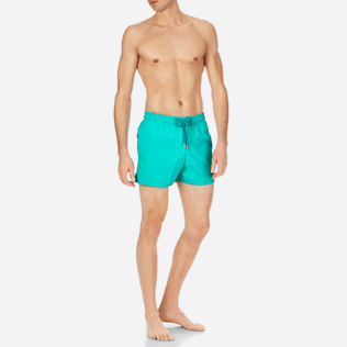 Men Stretch classic Solid - Men Stretch Swimwear Solid, Veronese green frontworn